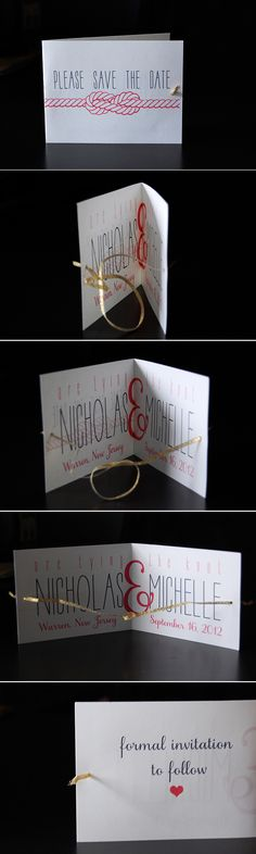 My DIY tying the knot save the dates