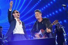 Marc Anthony and Alejandro Sanz perform at One Voice: Somos Live! A Concert For Disaster Relief 171014 #MarcAnthony #AlejandroSanz #OneVoice #SomosLive #DisasterRelief