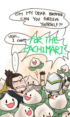-Pops out of the pile-For the Pachari~ Overwatch Funny Comic, Overwatch Memes, Overwatch Genji, Overwatch Fan Art, Shimada Brothers, Genji And Hanzo, Fanart, Genji Shimada, Funny Comics