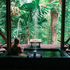 View from the Healing Waters Spa at the Silky Oaks Lodge & Spa (image by Gypsea Lust Photo via IG)