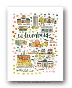 Columbus, GA Map Print