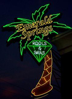 Emerald Springs oklahoma #Neon #sign via flickr