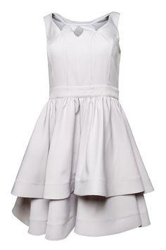 078b9b4a12 Szara sukienka na wesele - grey dress rozkloszowana sukienka de facto Fason  Rozkloszowany