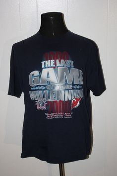 2defeb5dbf5 1999 New York Rangers Jersey Devils Last Game of the Millennium Tee Shirt  2XL #ProPlayer