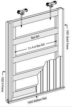 Pole barn purlin spacing google search pole barn for Sliding barn door construction plans