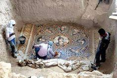 Obras de arte decoravam casas de luxo na antiga cidade de Zeugma, na Turquia