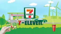 7 Eleven Logo Plays With Cup of Coffee Parody 7 Eleven, Visit Thailand, Yes Please, Game Logo, Food Reviews, Cool Logo, How To Find Out, Brunch, Logos
