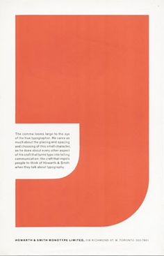 """The comma looms large to the eye of the true typographer..."" Carl Brett print ad for Howarth & Smith Monotype Ltd."