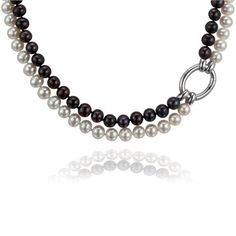 Sophisticate Necklace - Cloelle Designs Production-  fresh water pearls Water Pearls, Fresh Water, Sterling Silver Jewelry, Design, Water Beads, Design Comics