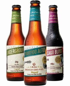 Projeto The Beers. Partido Alto (Pilsen), Underground (IPA) Chicago Blues (Porter). Thiago Silva (Gauden Bier) e Douglas Salvador (Clube do Malte). Curitiba-PR