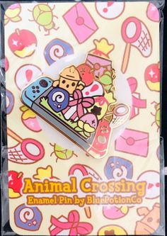 Nintendo Switch with Neon Blue and Neon Red Joy-Con - Nintendo Switch Games - Trending Nintendo Switch Games - Animal Crossing Switch 2019 Hard Enamel Pin Switch Nintendo Switch Nintendo for sales Switch Nintendo, Ac New Leaf, Animal Crossing Villagers, Jacket Pins, Pastel Pattern, Pin And Patches, Jacket Patches, Hard Enamel Pin, Cool Pins