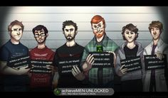 achievement hunter mugshot