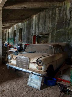 Old Merc Tucked Away In An Abandoned Factory North Western Iceland Source Facebook
