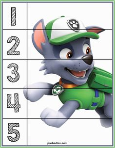 Paw Patrol Number Puzzles - Activities For Toddlers With Autism Mehr zur Mathematik und Lernen allge Autism Activities, Work Activities, Infant Activities, Educational Activities, Counting Puzzles, Number Puzzles, Counting Activities, E Learning, Learning Italian