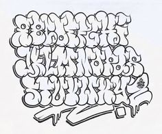 Graffitti alphabet