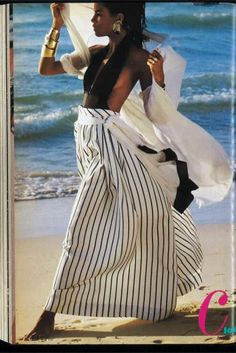 iconic image of Veronica Webb from Essence's April 1989 issue