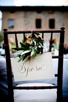 Love the olive leaves and the use of Italian!