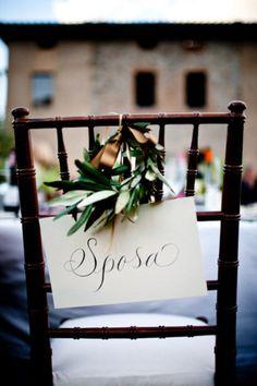elegant italian wedding touches