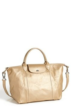 Longchamp 'Le Pliage - Medium' Leather Shoulder Bag available at #Nordstrom