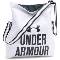 Under Armour Women's UA Armour Crossbody Tote ($19) ❤ liked on Polyvore featuring bags, handbags, tote bags, white, foldover crossbody, crossbody tote, fold over tote, white handbags and tote purses