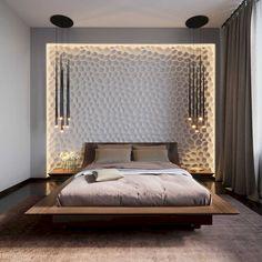 Modern Yatak Odası Yatak Başı Tasarımları