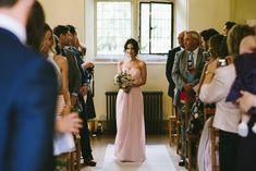 Image by Ed Godden Photography - Classic Wedding at Notley Abbey Buckinghamshire | Maggie Sottero Ascher Gown | Pink Bridesmaid Dresses | Romantic Fairy Lights | Ed Godden Photography | http://www.rockmywedding.co.uk/Faye-stuart/
