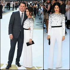 #channingtatum #JennaDewan #jumpsuit #Romper #playsuit #couple #Couture #chanel #highheels #shorts #cute #bob #fashion #style #celebrity #blonde #LegsForDays #hollywood #star #lovely #beautiful #pretty#stylish #lookbook #look #ootd #outfit #heels #shoes... - Celebrity Fashion