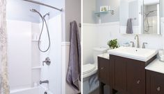 AFTER: See how the Kress family took on a part-time DIY #bathroomremodel of their condo using easy-to-install and functional Sterling Plumbing products.