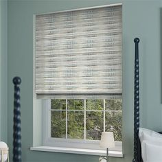 Reverie Scandi Blue Roman Blind