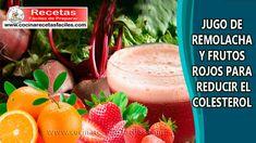▷ Jugo de remolacha y frutos rojos para reducir el colesterol Cantaloupe, Detox, Strawberry, Food, Beet Juice Recipes, Lower Cholesterol, Diet And Nutrition, Essen, Strawberry Fruit