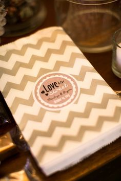 Luxurious Puerto Rico Wedding from Vanessa Velez Photography candy bags for Candy bar with our wedding date