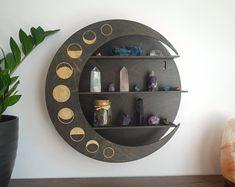 Feng Shui Mirrors, Wall Art Decor, Room Decor, Crystal Shelves, Cactus Wall Art, Easy Wall, Home Room Design, Moon Phases, Moon Moon