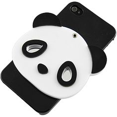 Obedient 3D Panda Back Cover w/ Mirror for iPhone 4 & 4S