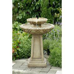 Jeco - Bird Bath Outdoor Water Fountain - Default Title - Water Gardening  - Yard Outlet