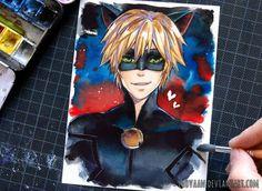 Cat Noir - Miraculous Ladybug by Laovaan