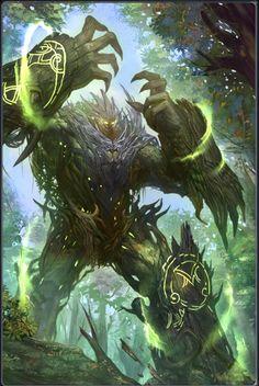 yo era un estudiante, pero ahora soy un esqueleto que está pasando? Monster Art, Monster Concept Art, Fantasy Monster, Monster Design, Tree Monster, Dark Fantasy Art, Fantasy Artwork, Fantasy Art Landscapes, Fantasy Forest