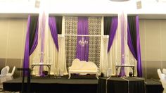 Purple and damask sangeet