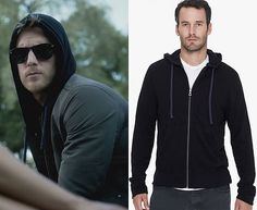 576509a662a8 Limitless: Season 1 Episode 13 Brian's Borg Lined Denim Jacket. See more. Brian  Finch (Jake McDorman) wears a James Perse Vintage Fleece Hoodie in the color