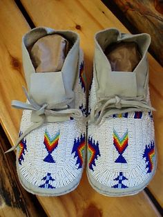 Indian Art Oklahoma - Native American Beaded Men's and Boys and Baby Moccasins