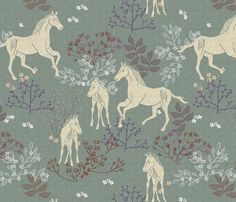 Horses fabric by susan polston on Spoonflower - custom fabric Caballos  Animados c0a6000c930