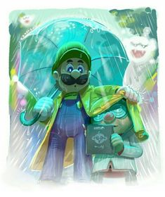 Luigi, Professor E. Gadd and some Boos in the fog. All Mario Games, Mario Wii, Mario Y Luigi, Super Mario Memes, Super Mario Art, Super Mario World, Mario Tattoo, King Boo, Paper Mario