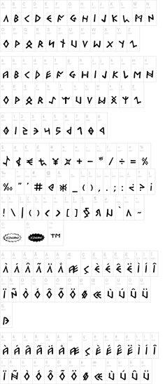 Odinson | dafont.com fuente de letras normales en estilo de runas vikingas. #bajotinta