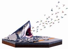 Attack in a Box! Insane Animal Art of Josh Keyes  ... see more at PetsLady.com ... The FUN site for Animal Lovers