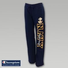 Navy Women's Fleece Sweatpants. These would be sooooo perfect for cold or rainy days