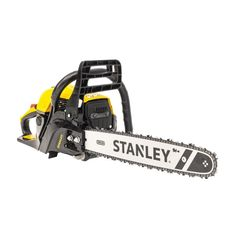 "Stanley 2 Stroke 18"" Chainsaw, 2 Year Warranty. The 52cc petrol chainsaw comes with a 450mm bar with a cutting length of 370-430mm is ready to take on all your cutting needs around the garden. Trim branches, drop trees, even cut fire wood for the open fire, there are no limits with the high quality Oregon chain and bar. Garden Equipment, Outdoor Power Equipment, Petrol Chainsaw, Chainsaw Sharpener, Chainsaws For Sale, Open Fires, Fire Wood, Branches, Oregon"