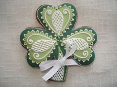 Decorated Shamrock Cookies Chocolate | Shamrock (Decorated Cookies) | Cookies | Pinterest | Decorated Cookies ...