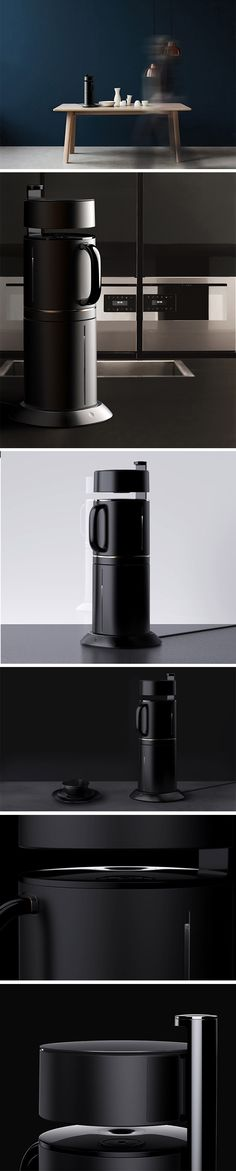 MiO is a taller, slimmer coffee maker compared to today's current bulky, round ones. It's vertical design is made possible thanks to its clever inverted construction. The water reservoir is located on the bottom and drip mechanism on top.