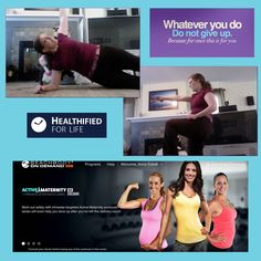 "Today I did the new ""Active Maternity"" workout on Beachbody On Demand!  It just came out after I delivered, and I was thinking that it was only for Prenatal workouts, but I looked at it again today and it also has a ""Postnatal"" workout! The trainer is Autumn Calabrese, and she delivers a great low impact workout - it was actually a little hard because it included planks!!"