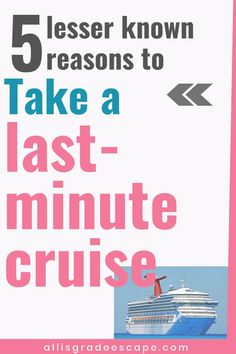 Last minute cruises can be incredible, value-packed vacations! These 5 reasons you should take a last minute cruise will help give you the push you need! Packing List For Cruise, Cruise Tips, Cruise Vacation, Vacation Trips, Cruise Travel, Vacations, Best Honeymoon Destinations, Honeymoon Spots, Amazing Destinations