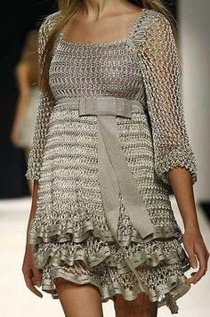 Crochet Metallic Dress Pattern. Page 1…